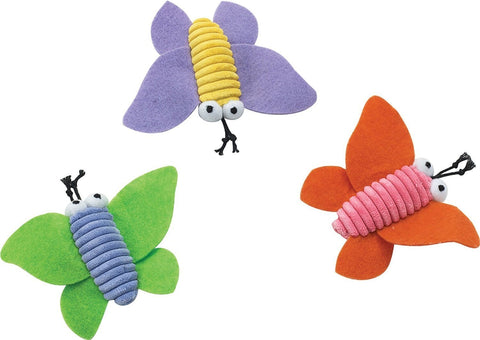 3pk Corduroy Butterfly Catnip Cat Toy