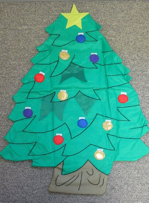 Applique Christmas Tree Sculpted House Flag,  #1090