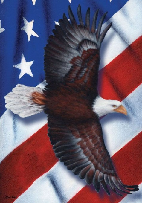 Patriotic Eagle Garden Flag,  #G00143