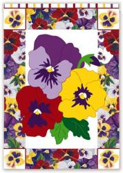 Welcome Pansies Garden Flag,  #16630