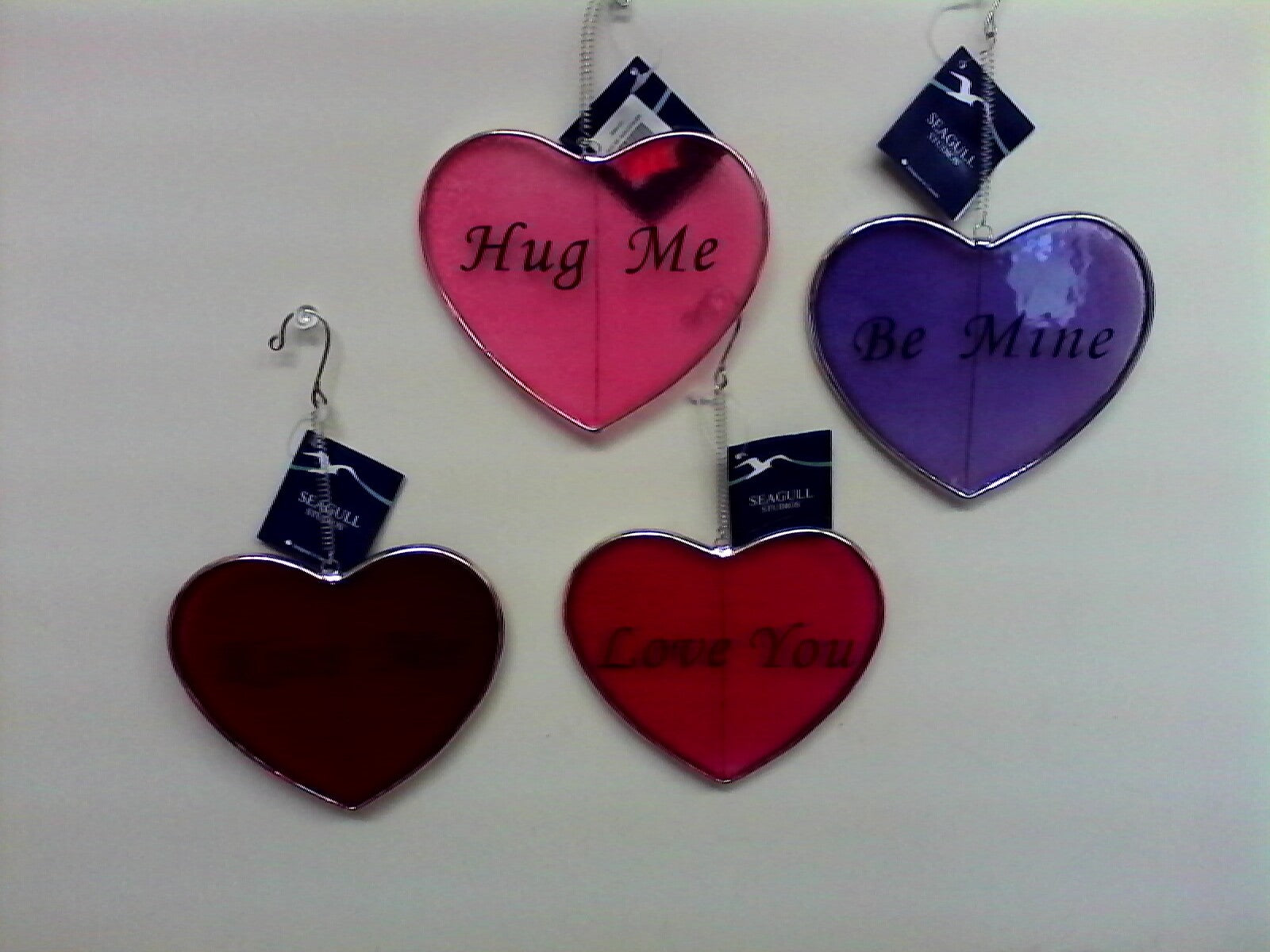 4 piece Valentine Heart Shaped Sun Catchers