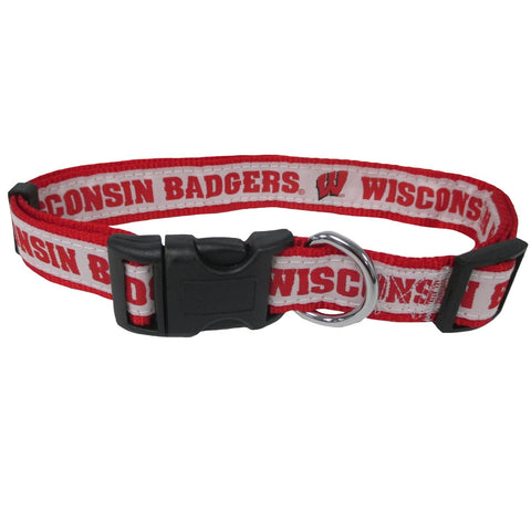 Collegiate Wisconsin Medium Dog Collar