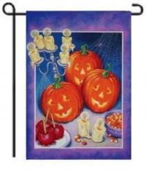 Party Pumpkin Trio House Flag, #9663FL