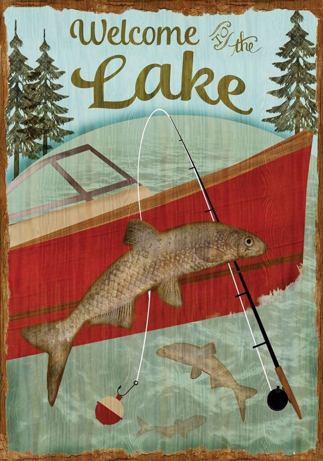 Welcome To The Lake Garden Flag, #G00125
