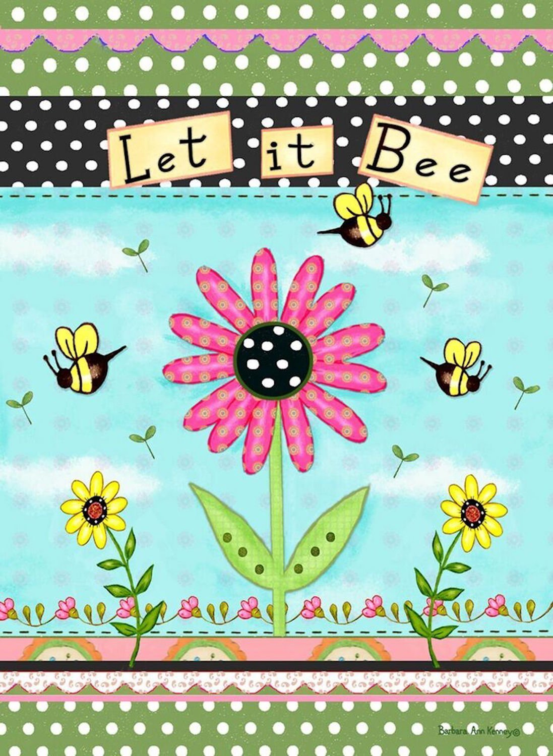 Let It Bee Garden Flag, #G00155
