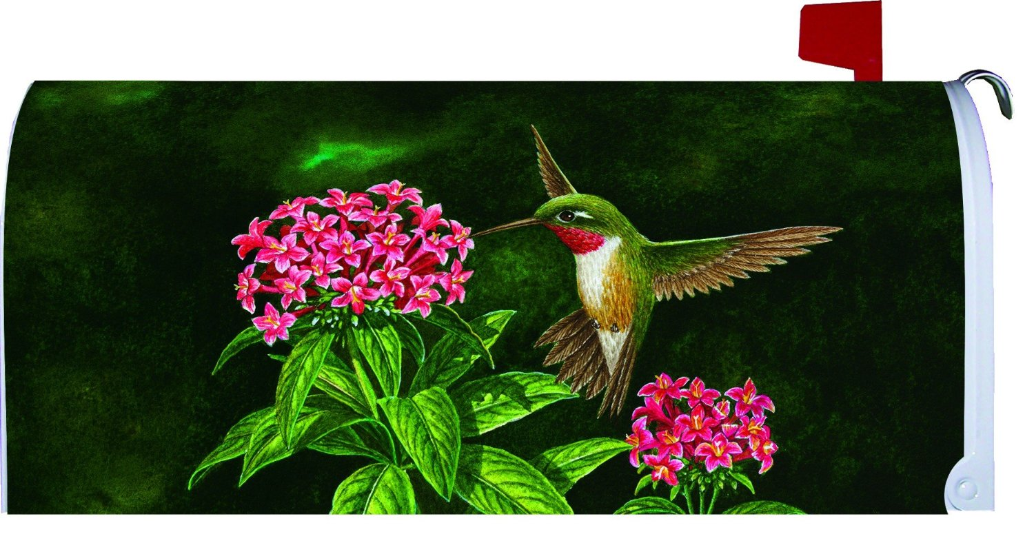 Welcome Hummingbird Large Mailbox Cover, #2658ML