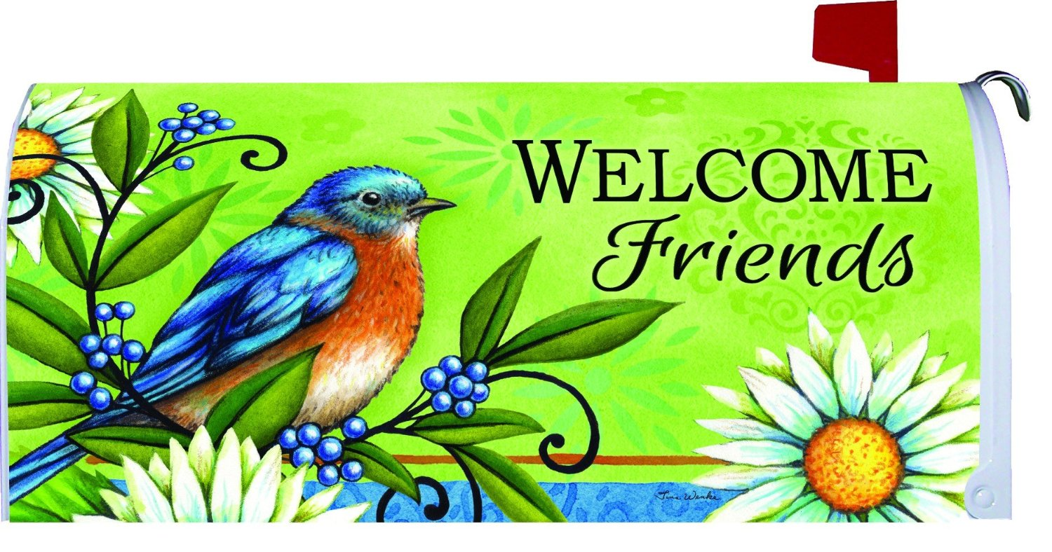 Welcome Bluebird Large Mailbox Cover, # 2655ML