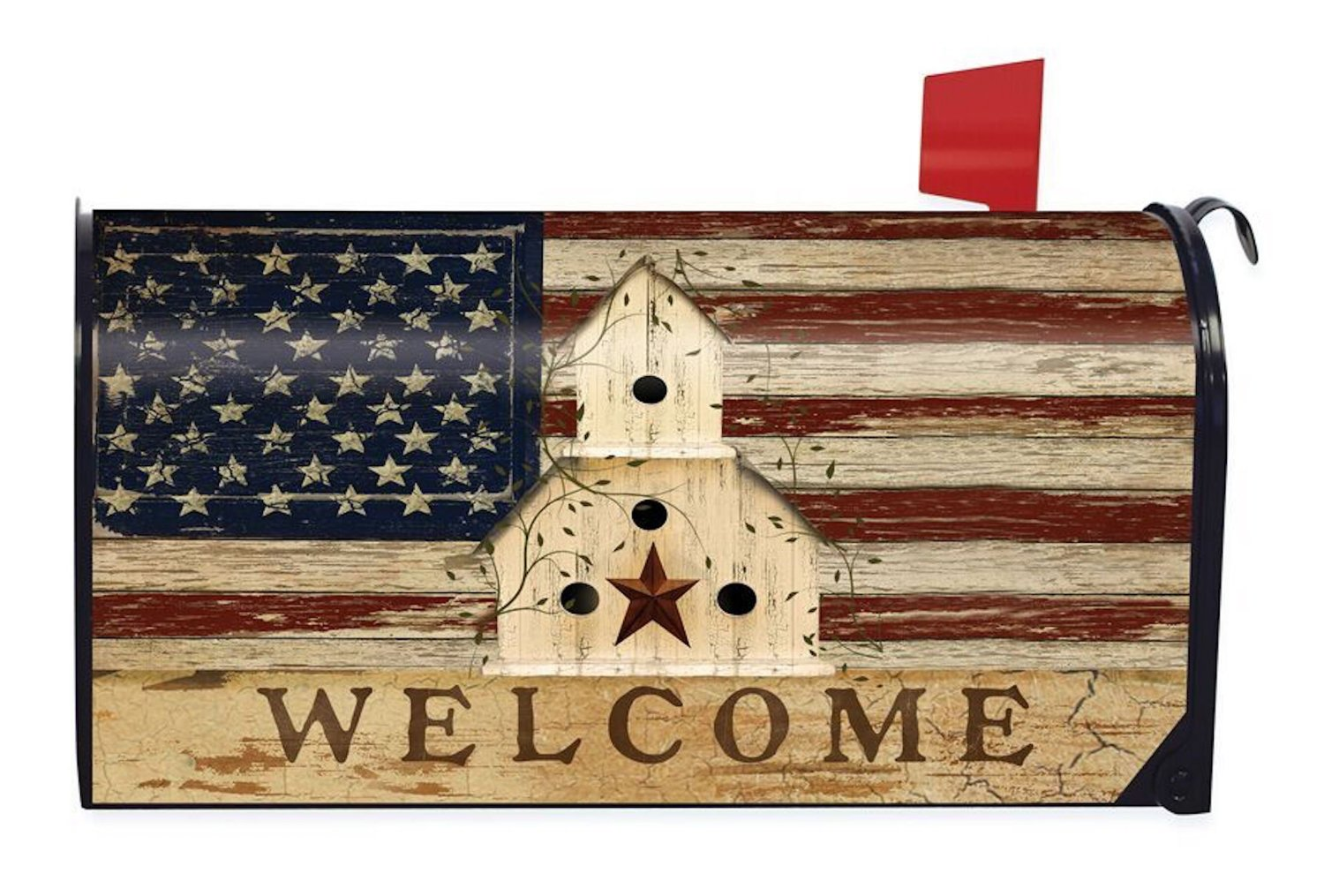Americana Welcome Standard Size Mailbox Cover, #M00118