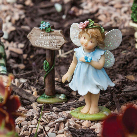 Mini Garden Fairy Statue with Sign