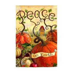 Peace Pumpkin House Flag, #131370