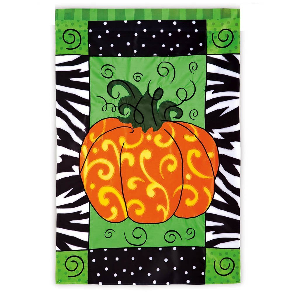 Pumpkin Whimsy Garden Flag,  #167702