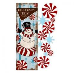 Peppermint Frost Applique Garden Flag,  #161049