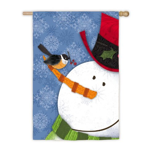 Jolly Snowman House Flag,  #131844