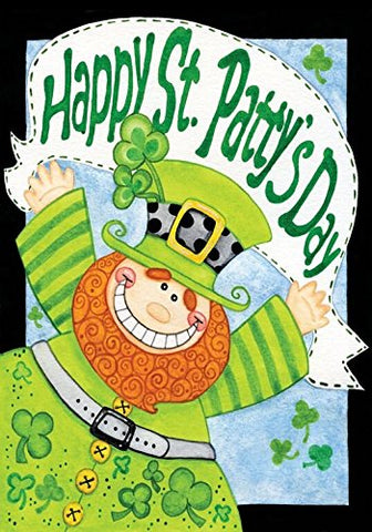Happy Leprechaun House Flag,  #H00108