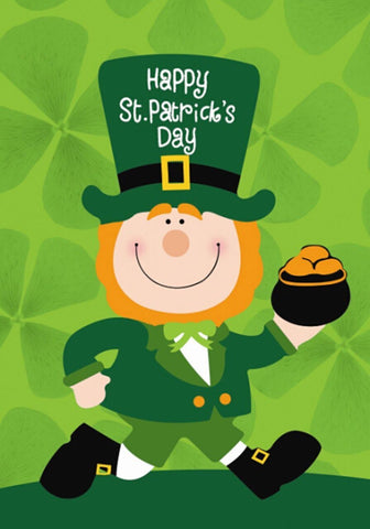 St. Patrick's Day Leprechaun HouseFlag, #H00271
