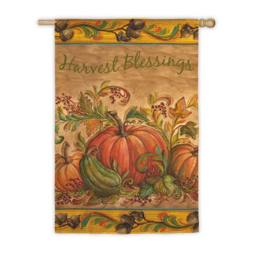 Harvest Blessing House Flag,  #131456