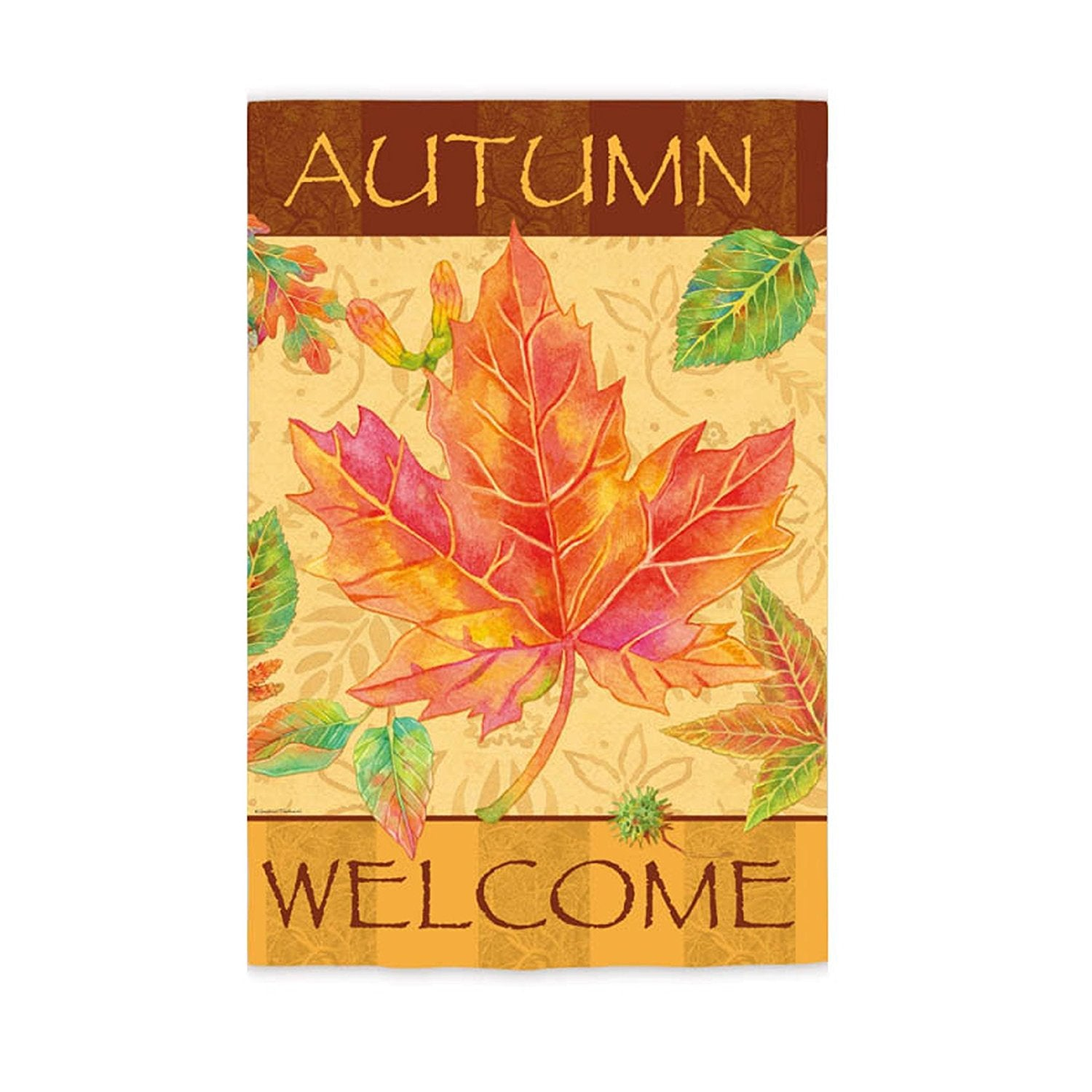 Welcome Autumn Leaves Garden Flag,  #14s2649