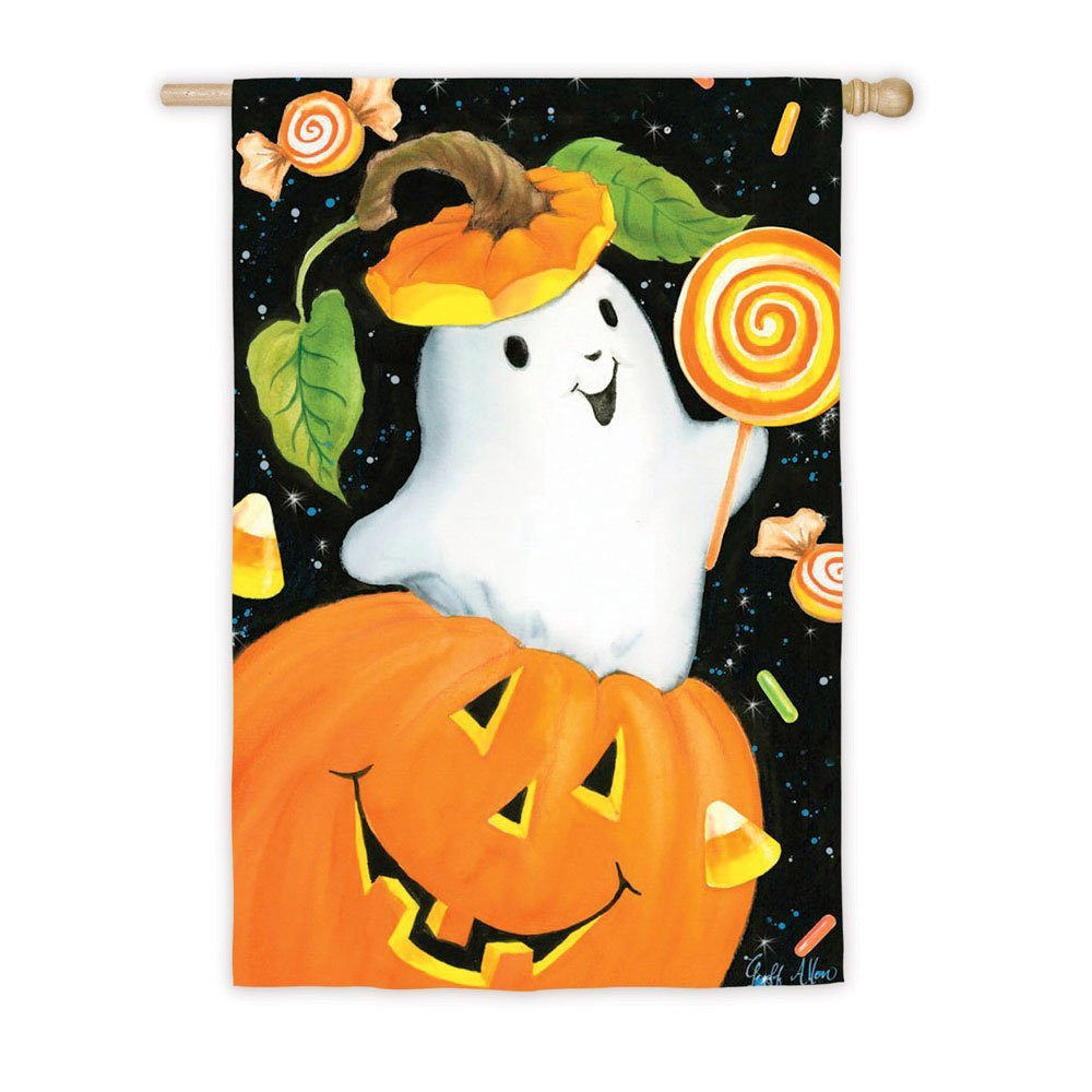 Spooky Pumpkin House Flag,  # 13A2980