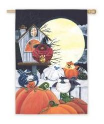 Portly Bird Halloween House Flag, #13728