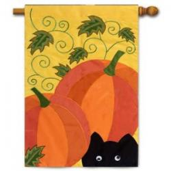 Pumpkin Cat Garden Flag,  #16899