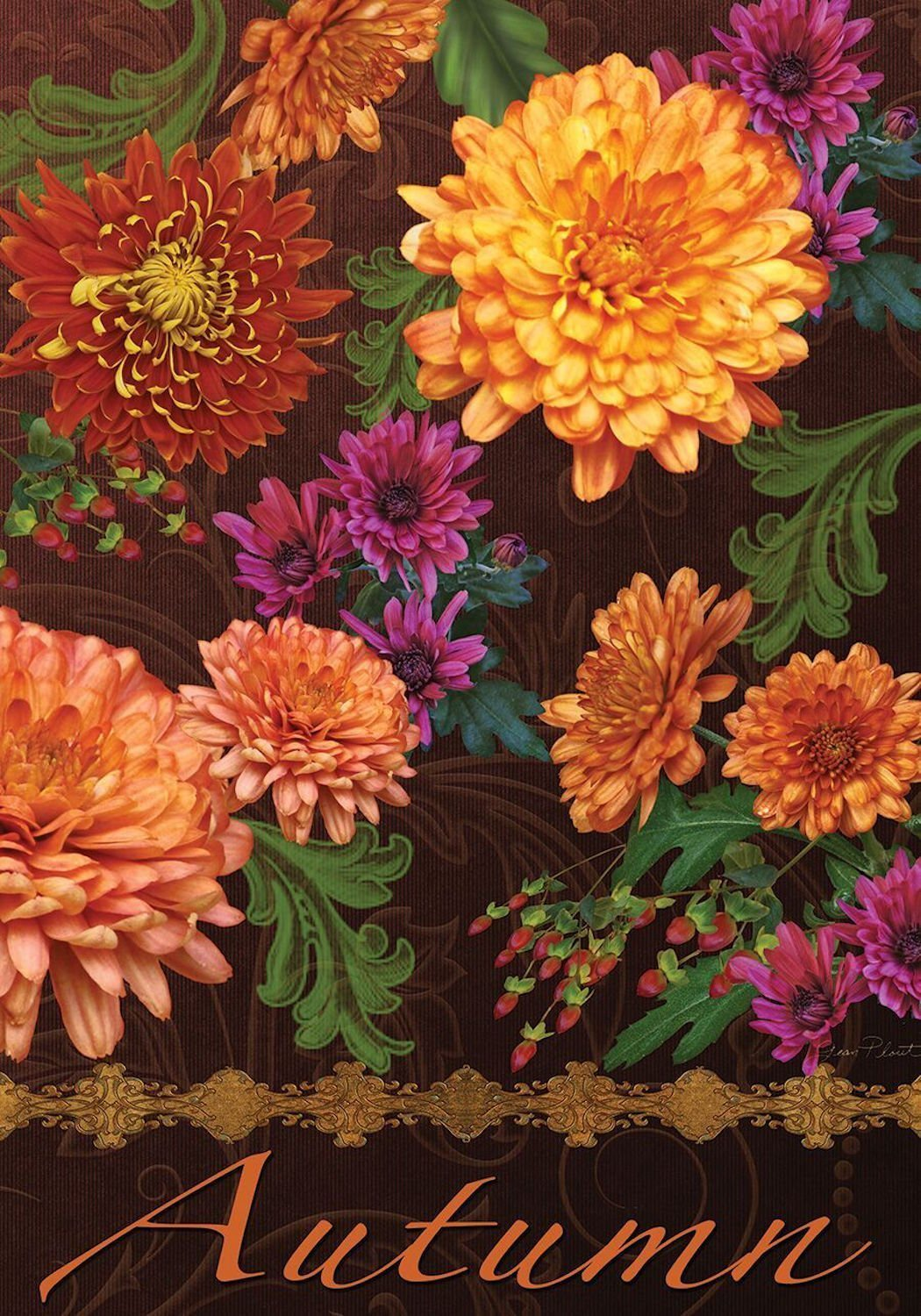 Autumn Floral Garden Flag, #G00183