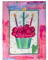 Wedding / Birthday Cupcake Garden Flag,  #b14gc2552