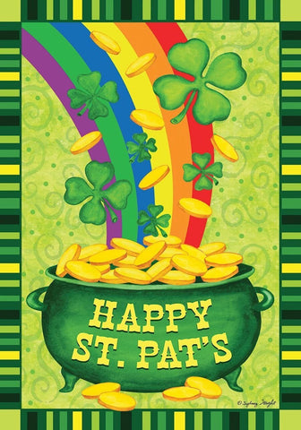 St. Pat's Pot Of Gold Garden Flag, #G00303
