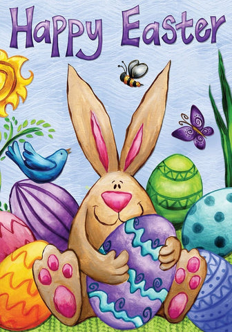 Happy Easter Bunny Garden Flag,  #G00308