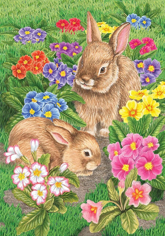 Bunny Friends Garden Flag,  # G00312