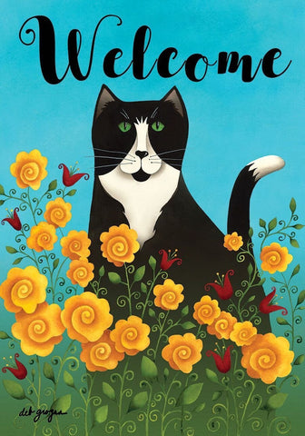 Garden Kitty Garden Flag, #G00434