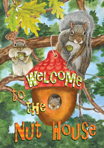 Welcome To The Nut House Garden Flag, #G00426