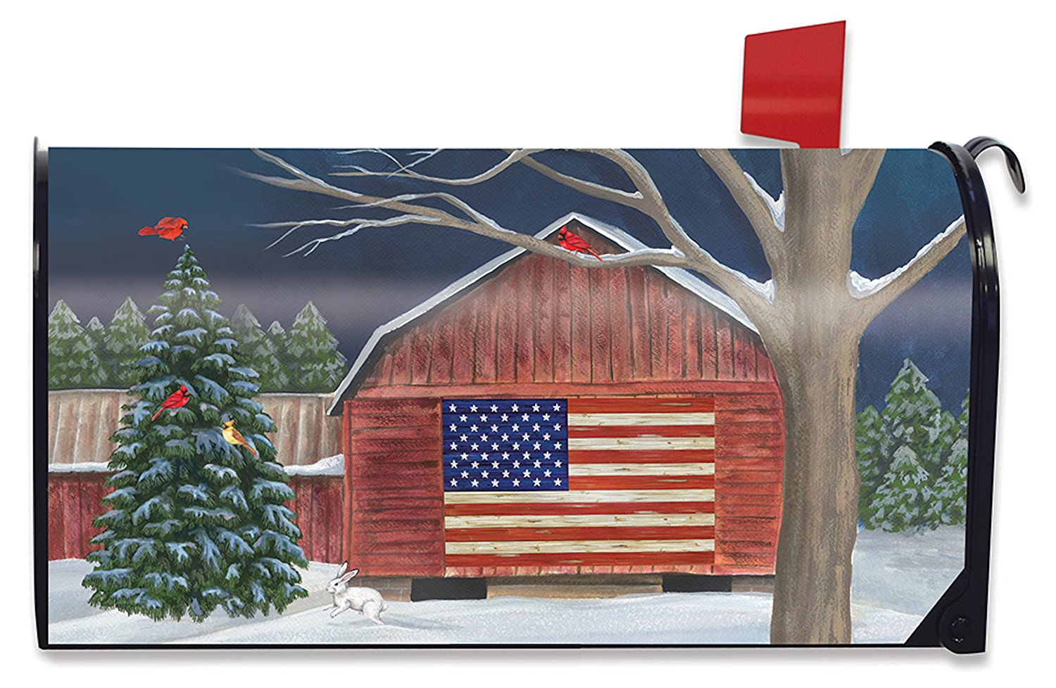 Barnside Winter Standard Size Mailbox Cover,  #M00522