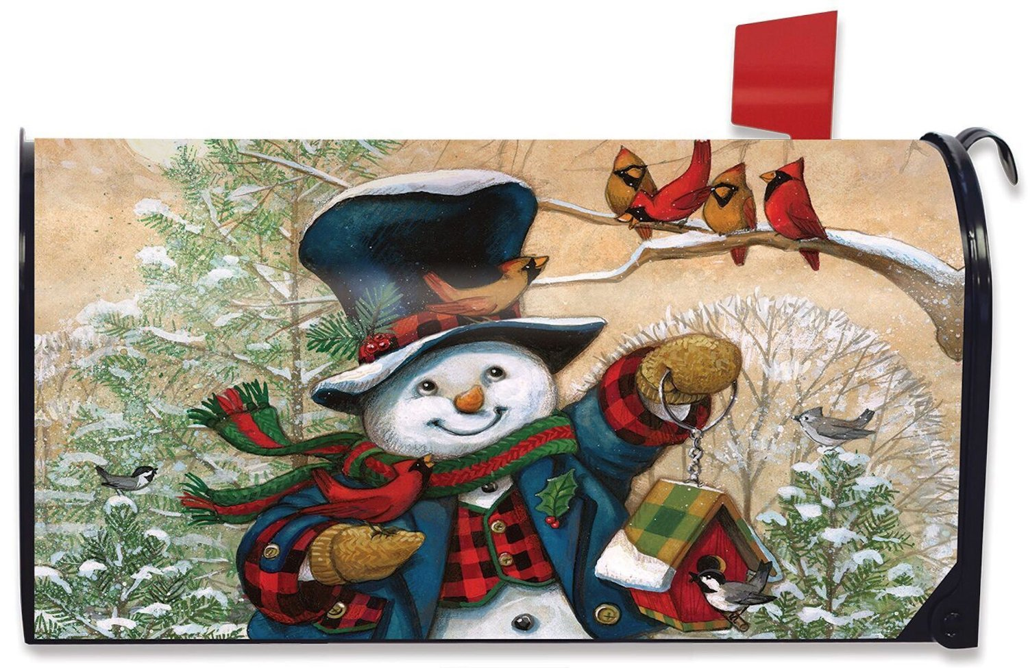 Winter Friends Large Mailbox Cover, #L00089