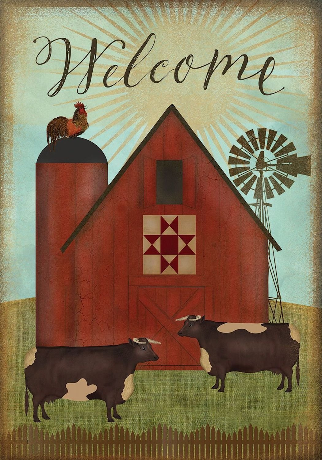 Farmland Welcome Garden Flag,  #G00499
