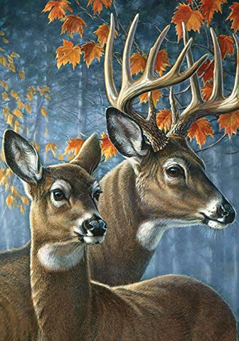 Deer Pair House Flag, #H00182
