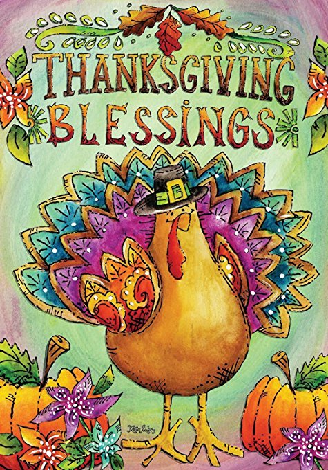 Thanksgiving Blessings Garden Flag,  #G00242