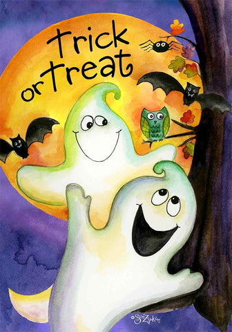 Trick or Treat Ghouls Garden Flag,  #G00508