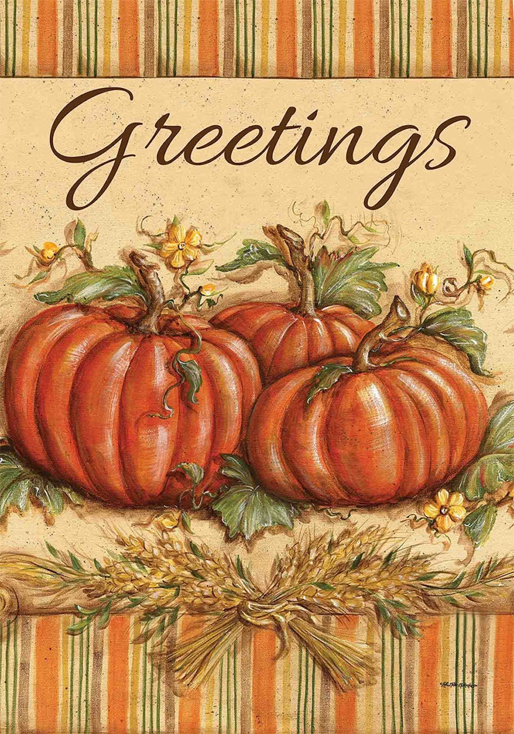 Fall Greetings Garden Flag,  #G00496