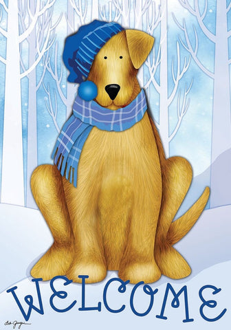 Welcome Winter Dog Garden Flag,  #G00532