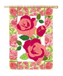 Rose Cottage Garden Flag,  #16615