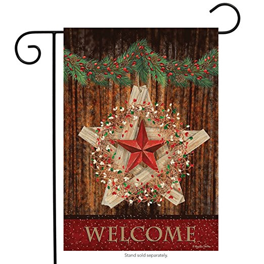 Holiday Barnstar Garden Flag, #G00521