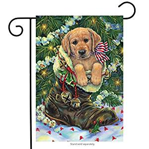 Santa's Helper Garden Flag,  #G00208