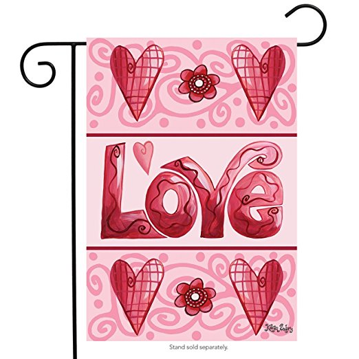 Love Hearts Garden Flag,  #G00295