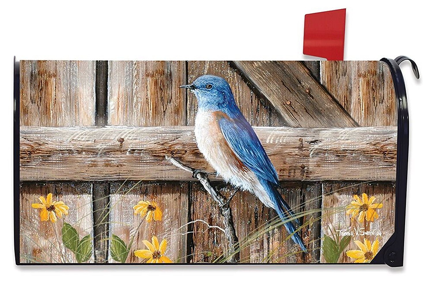 Bluebird Song Standard Size Mailbox Cover, #M00357