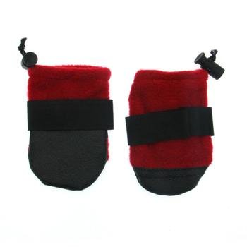 Dog Booties Size Tiny, Red