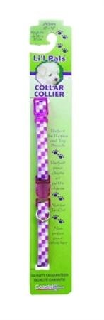 Lil' Pals Dog Collar, Purple Plaid