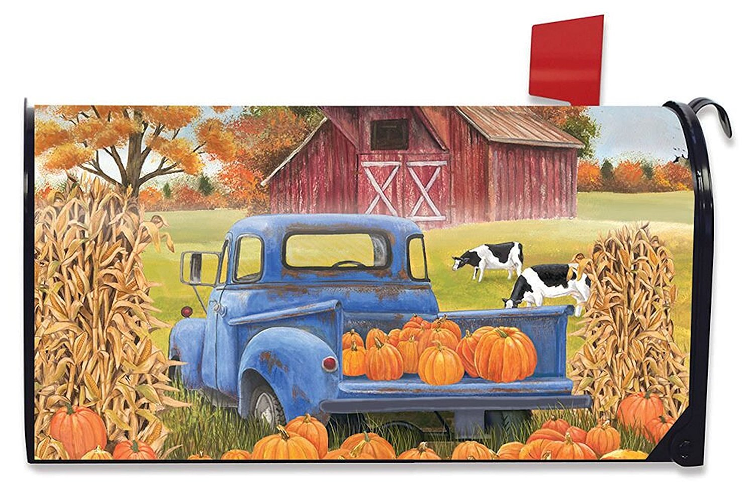 Pumpkin Patch Pickup Large Mailbox Cover, #L00482
