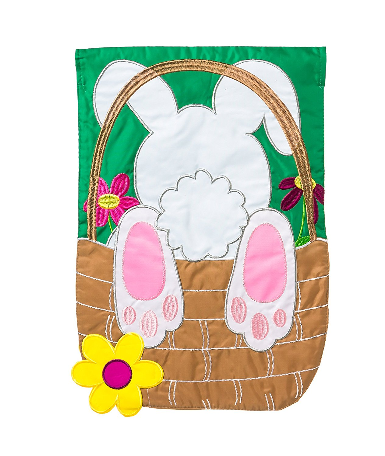 Bunny Basket Coming and Going House Flag, #158344fb