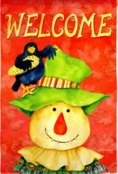 Scarecrow Welcome Garden Flag,  #141448