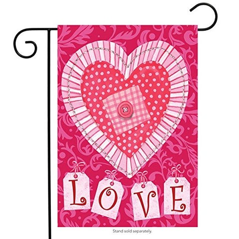 Patchwork Heart House Flag, #H00296